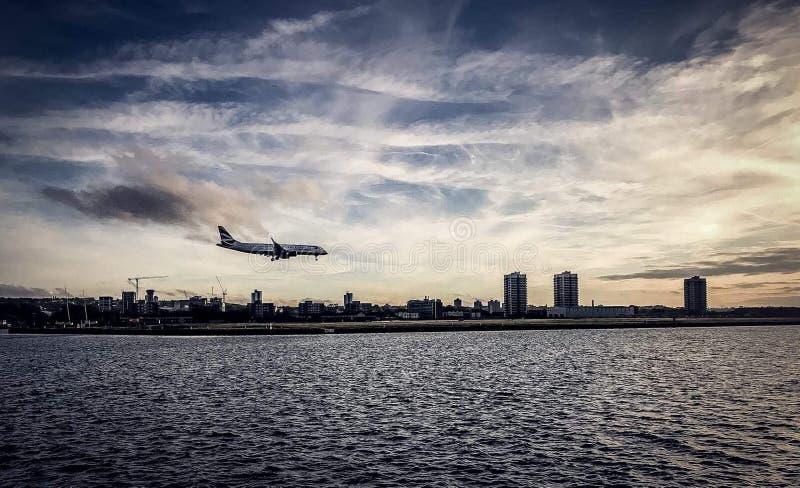 White Airplane stock photo