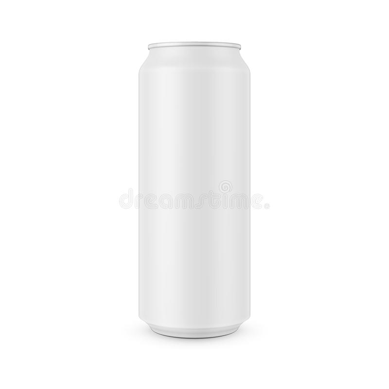 white aluminum can template stock vector illustration of vector