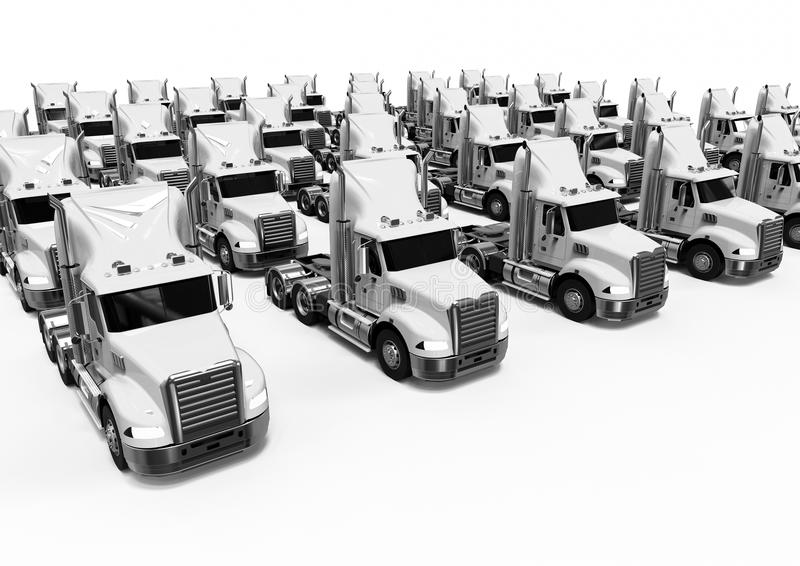 White American trucks fleet royalty free illustration