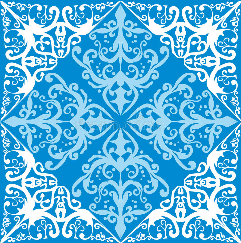 Free White And Blue Abstract Decoration Stock Images - 16717654