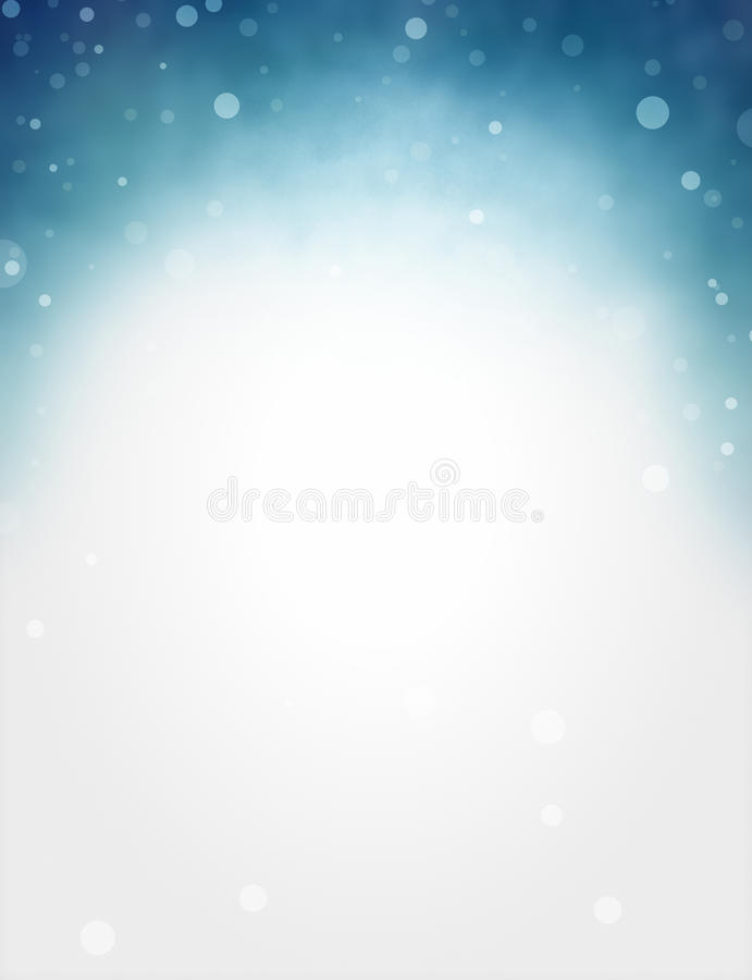 Free White And Blue Background With Blurred Bokeh Lights On Top Border In Pretty Soft Design With Blank Copyspace Royalty Free Stock Image - 88312186
