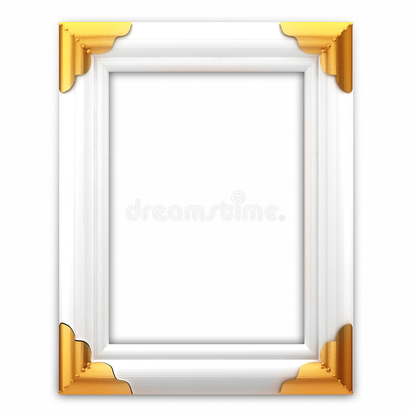 Free White And Gold Classic Picture Frame Royalty Free Stock Photos - 19668188