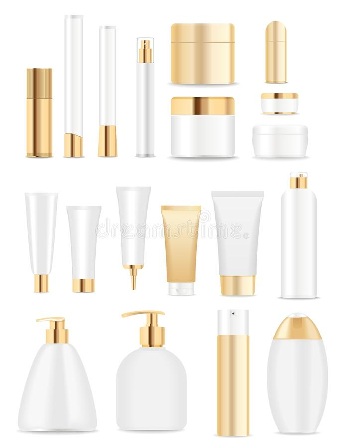 Free White And Gold Tubes Stock Images - 53144974