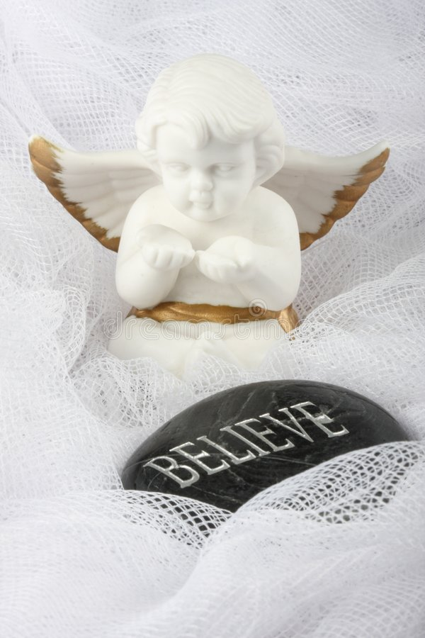 Download White Angel - Believe stock image. Image of glass, wings - 5008853