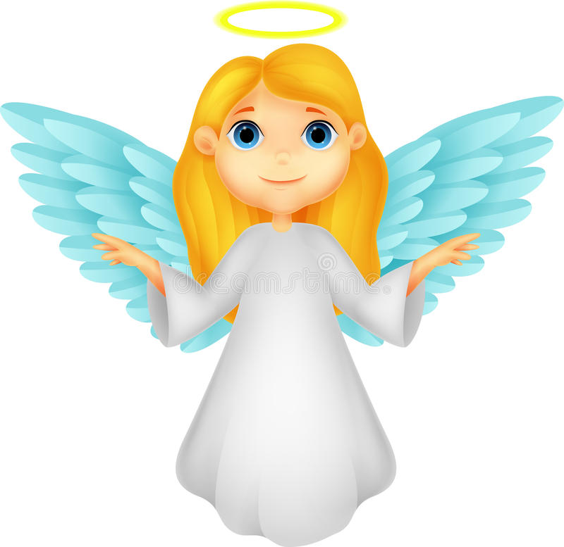 Download White angel cartoon stock vector. Image of child, innocent - 33237910