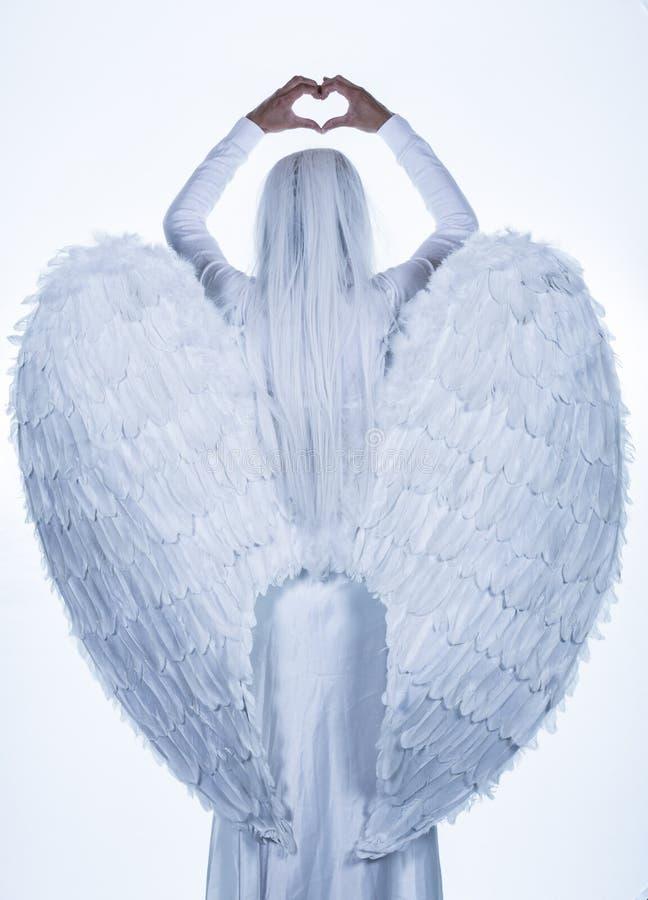 White Angel Illustration stock photos