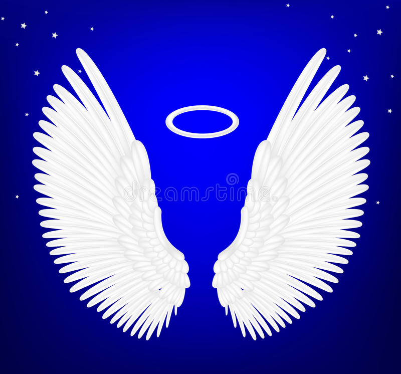 White angel wings royalty free illustration