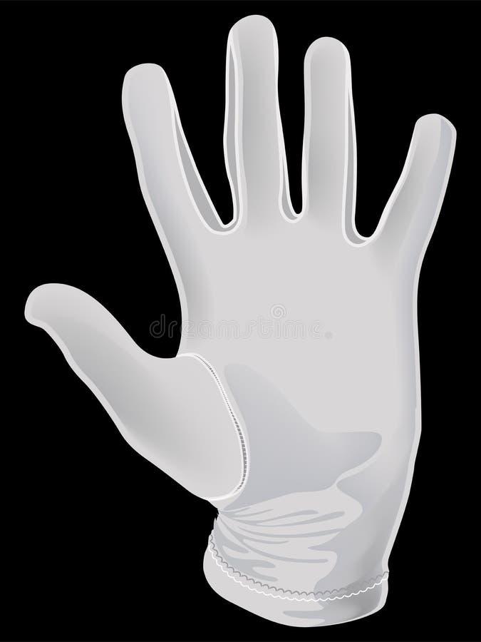 White apm glove. The white apm glove. Illustration vector illustration
