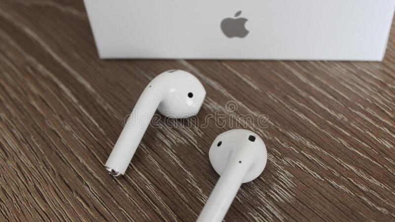 White Apple Airpods And Box Editorial Photo Image Of Device