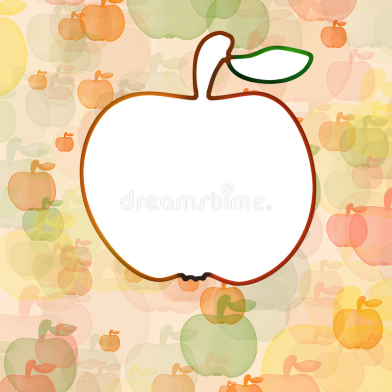 Download White Apple On Background With Mult Stock Illustration - Image: 32000958