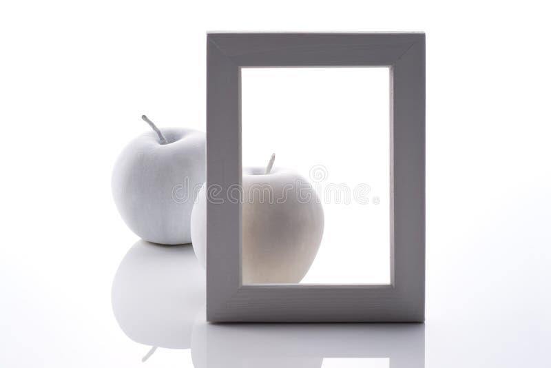 Download White apples back of frame stock image. Image of objet - 24673697