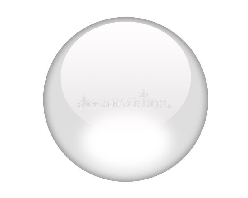 White aqua button royalty free illustration