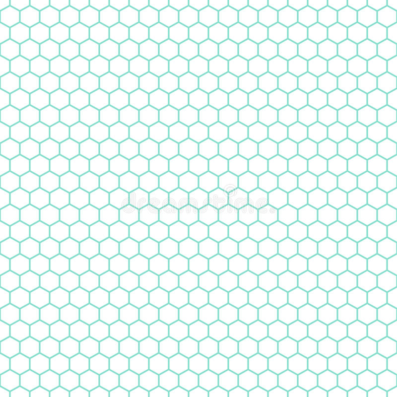 White & aqua honeycomb pattern, seamless texture background stock photos