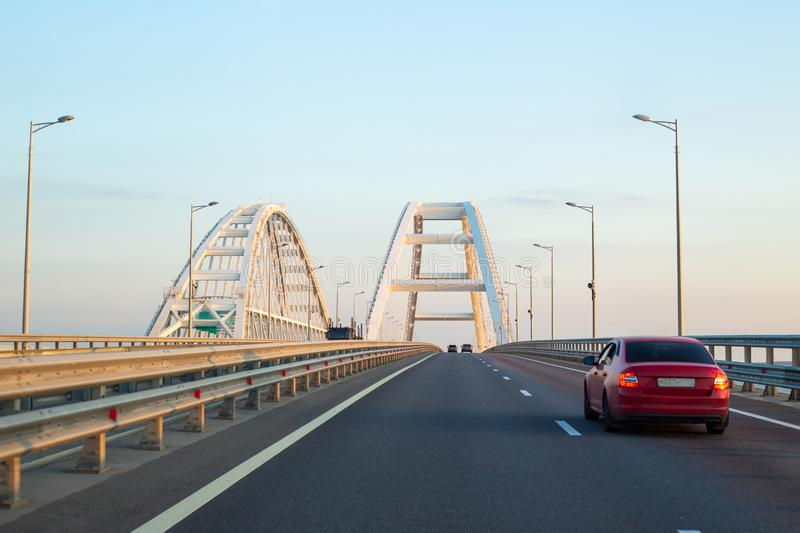 White arches of the bridge stock photography