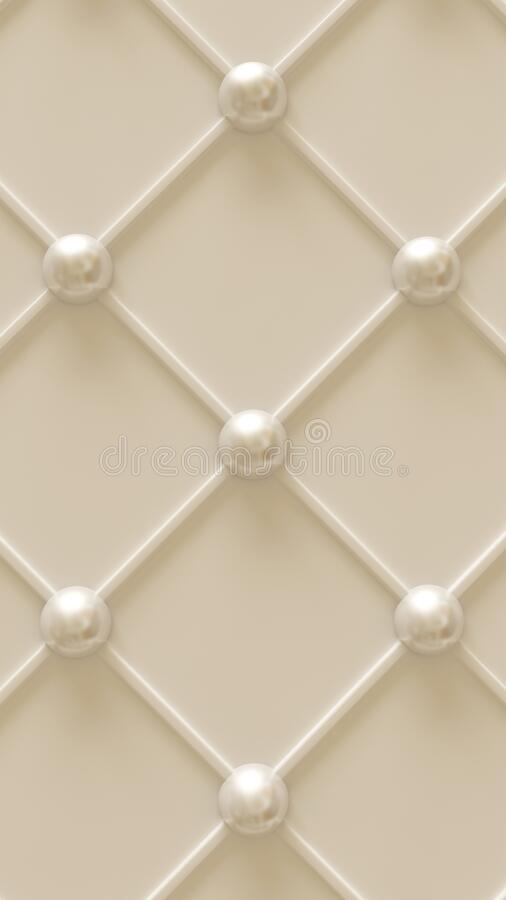 White architectural background with a pattern. 3d rendering, 3d illustration vector illustration