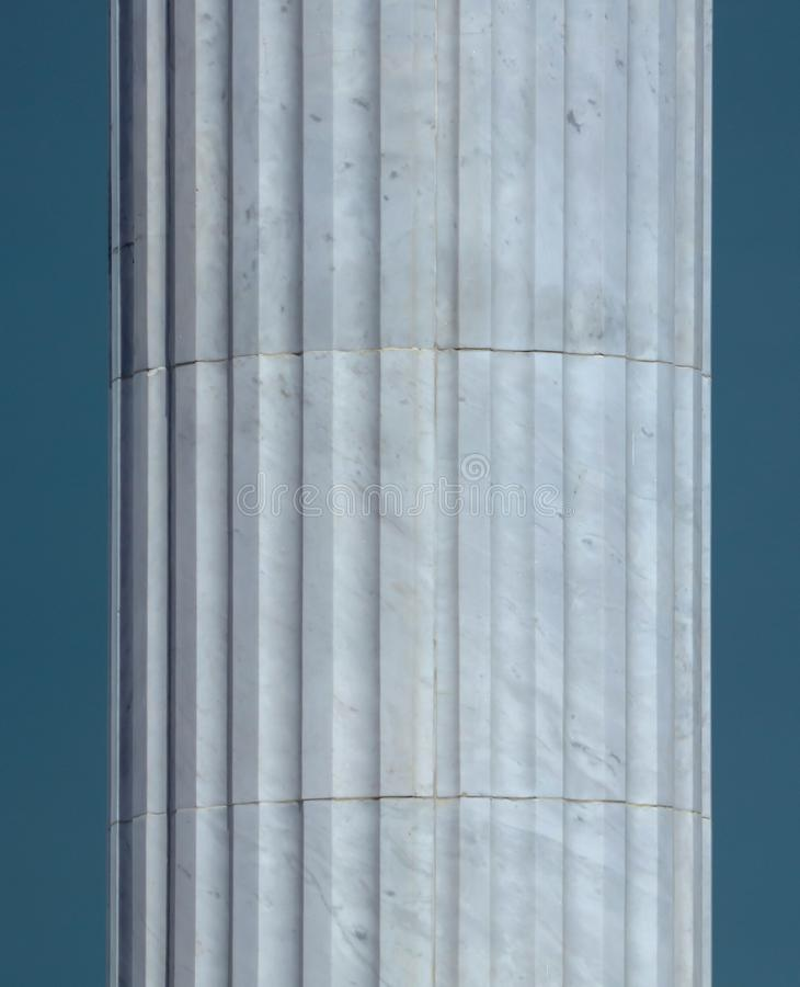 White architectural pillars on the building as a background.  stock photography