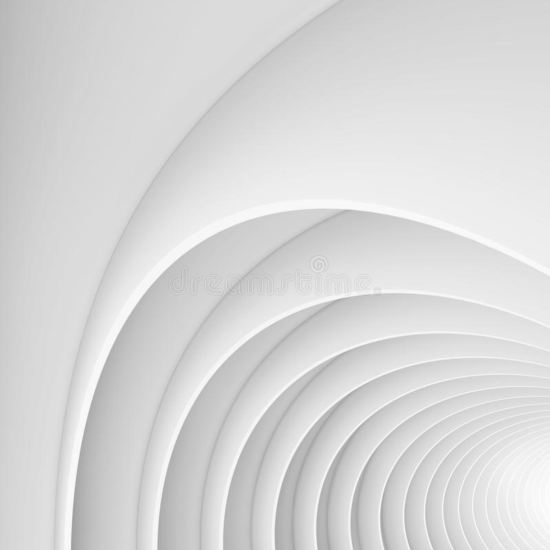 Free White Architecture Circular Background. Abstract Interior Design Stock Photography - 97668372