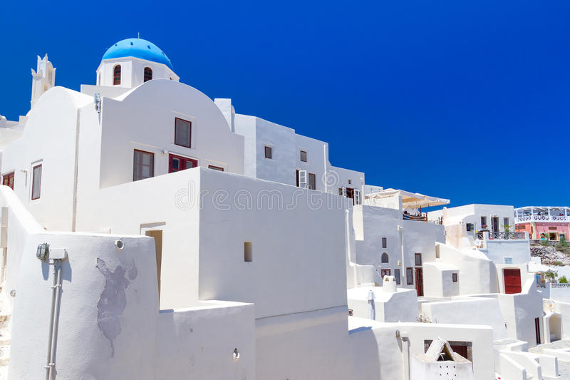 Download Architecture Of Oia Village On Santorini Island Stock Photo - Image of ferry, greek: 30067546