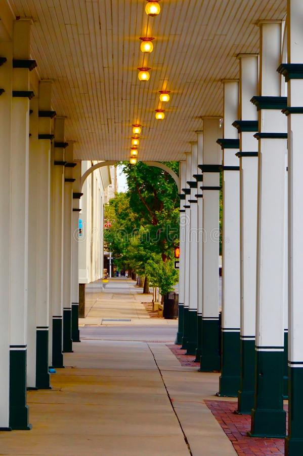 White archway in Wichita stock images