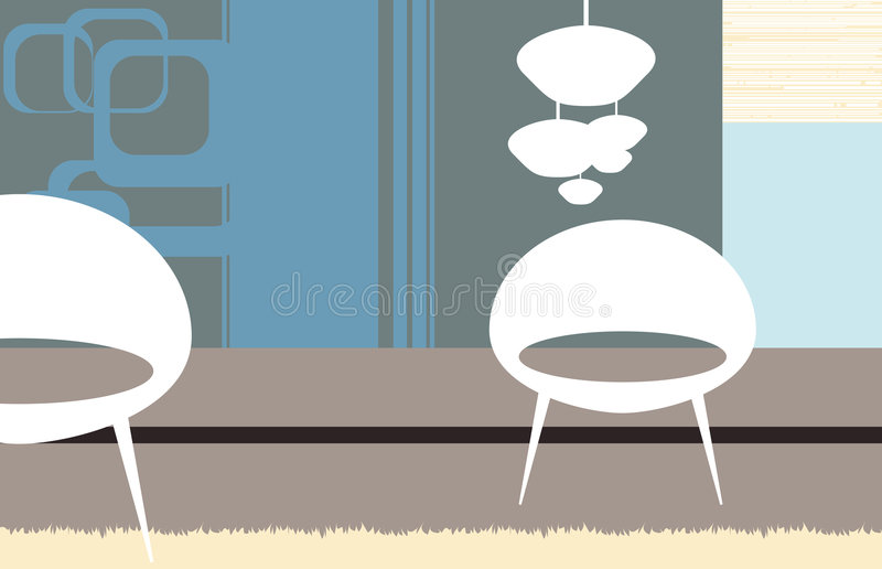 White armchairs royalty free stock images