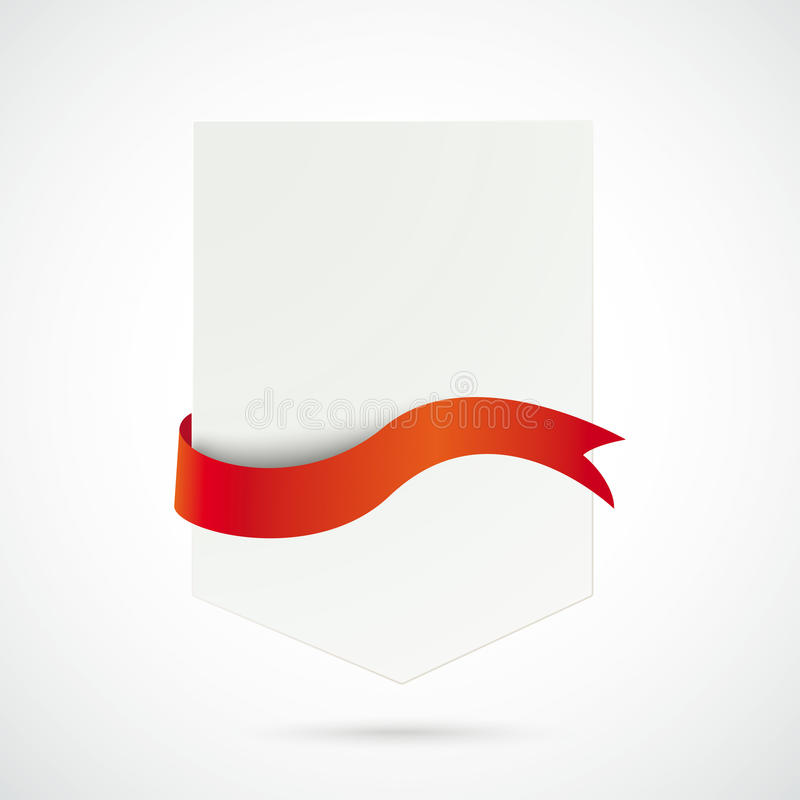 White Arrow Red Flag. Infographic with white arrow the white background royalty free illustration