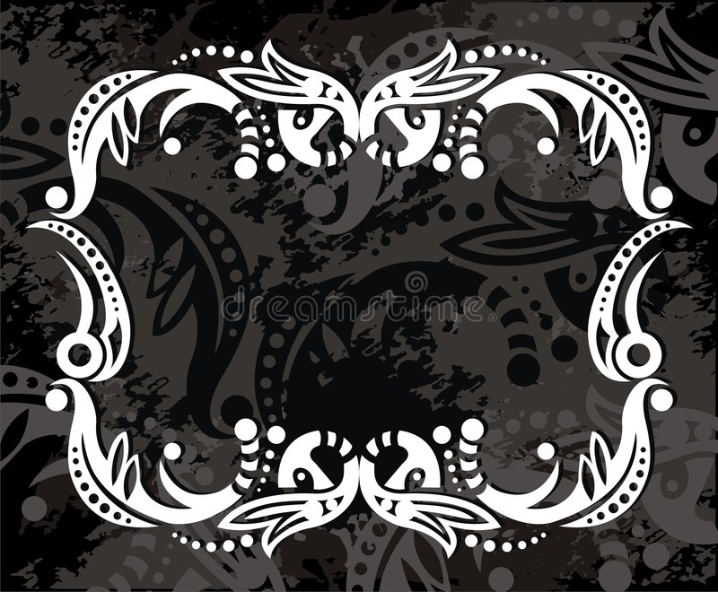 White artistic design. On a gray textured background vector illustration