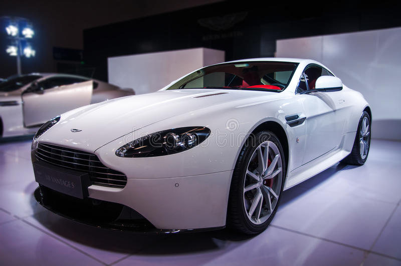Download White Aston-Martin editorial photo. Image of bentley - 41411901