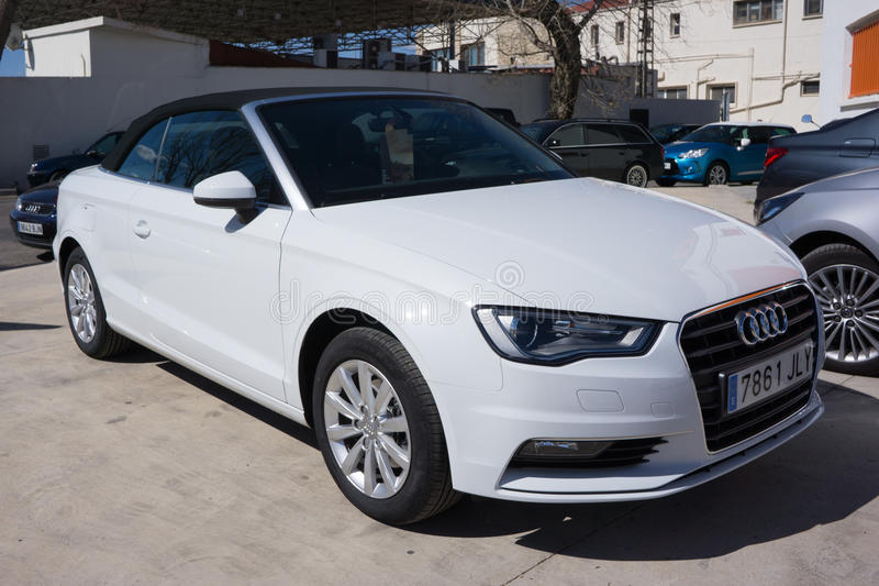 White 2014 Audi T3 Cabriolet stock photography