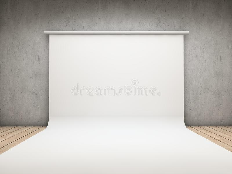 White backdrop. On a room vector illustration