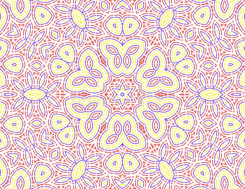 Abstract color pattern. White background with abstract concentric color pattern stock illustration