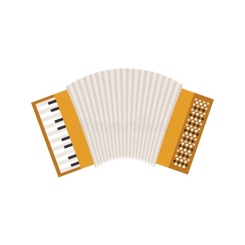White background with accordion icon. Vector illustration stock illustration
