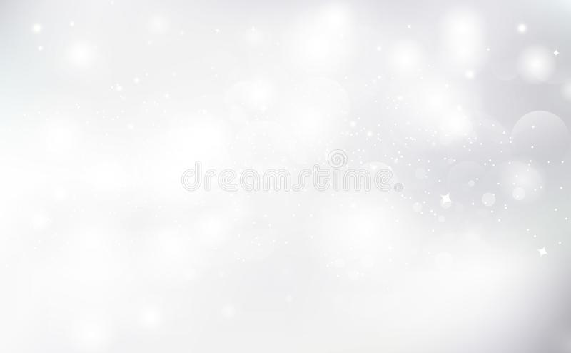 White background, Bokeh blurry abstract vector seasonal holiday celebration vector illustration