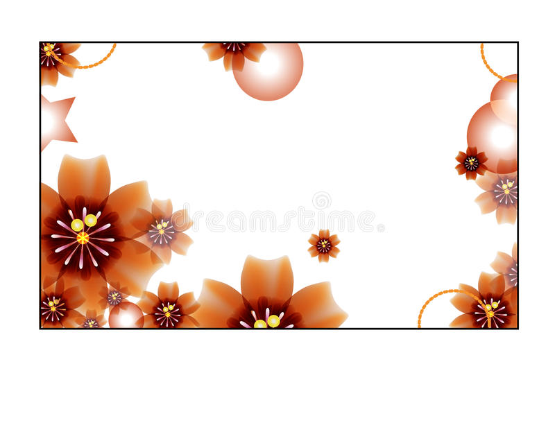 White background with flowers stock photography