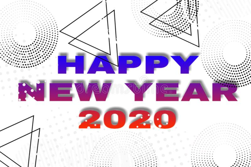 White background of happy new year 2020 vector illustration