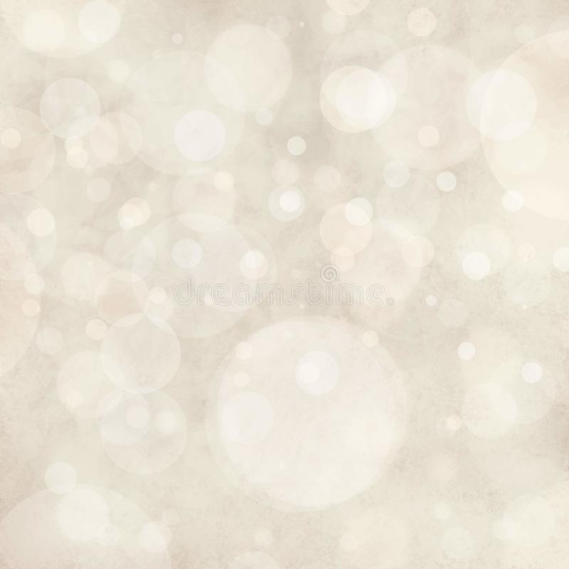 Free White Background Lights, Bokeh Circle Shapes Layered Like Falling Snow In Sky, Bubble Background Design Stock Image - 46570251