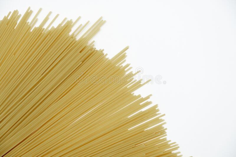 On a white background pasta. Food Delivery, Donation, Coronavirus Quarantine. Copy space. royalty free stock photos