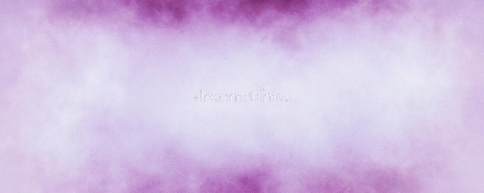 White background with purple and pink old grunge textured borders that are slightly blurred with a soft faint vintage marbled text royalty free illustration