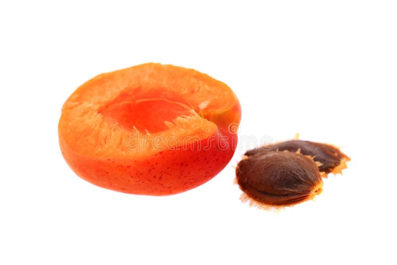 Fresh apricots and ripe fruit stock image