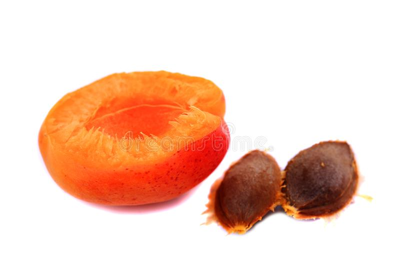 Fresh apricots and ripe fruit stock photography