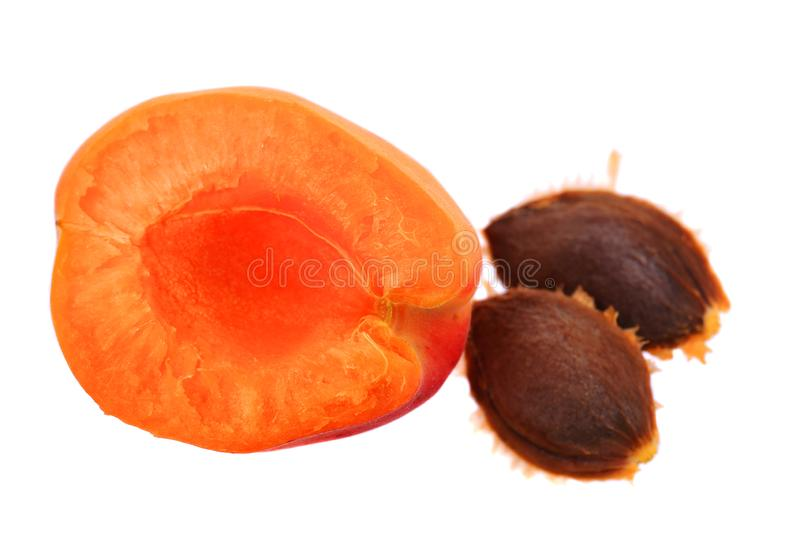 Fresh apricots and ripe fruit stock images