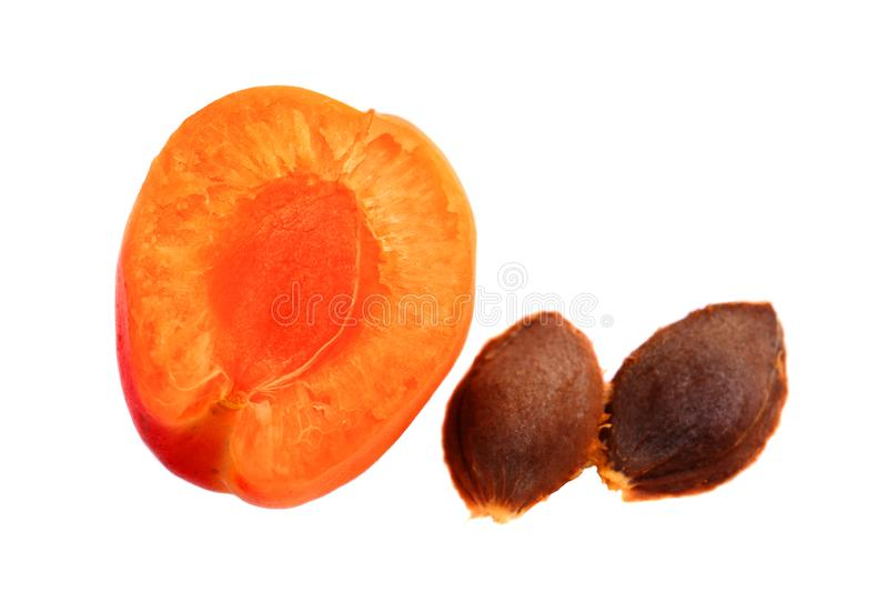 Fresh apricots and ripe fruit royalty free stock images