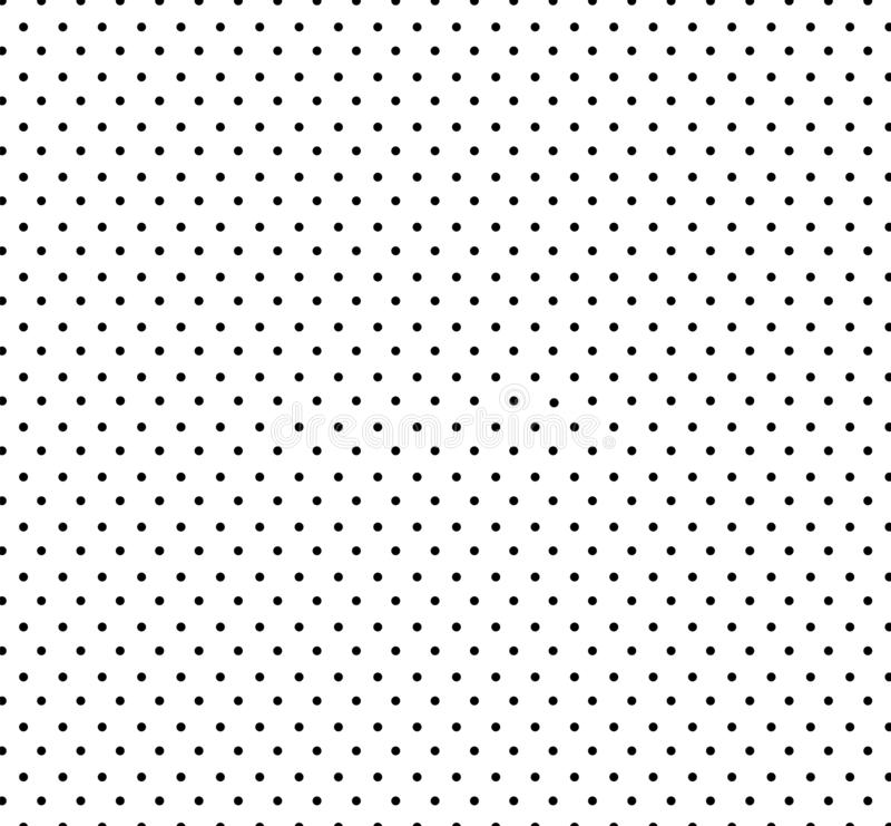 White background with small black polka dots pattern.Seamless circle pattern for kids .Baby shower decoration background. stock illustration