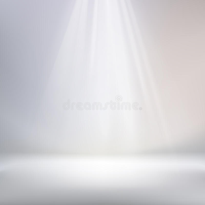 White background spotlight. Spotlight with light blue abstract background royalty free illustration