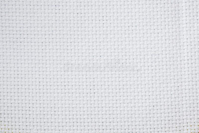 White background texture canvas for cross stit royalty free stock photography