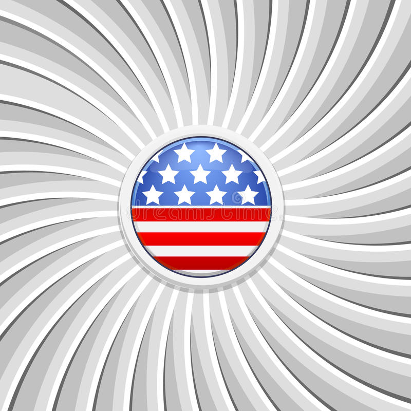 White background on the theme of July 4th stock illustration