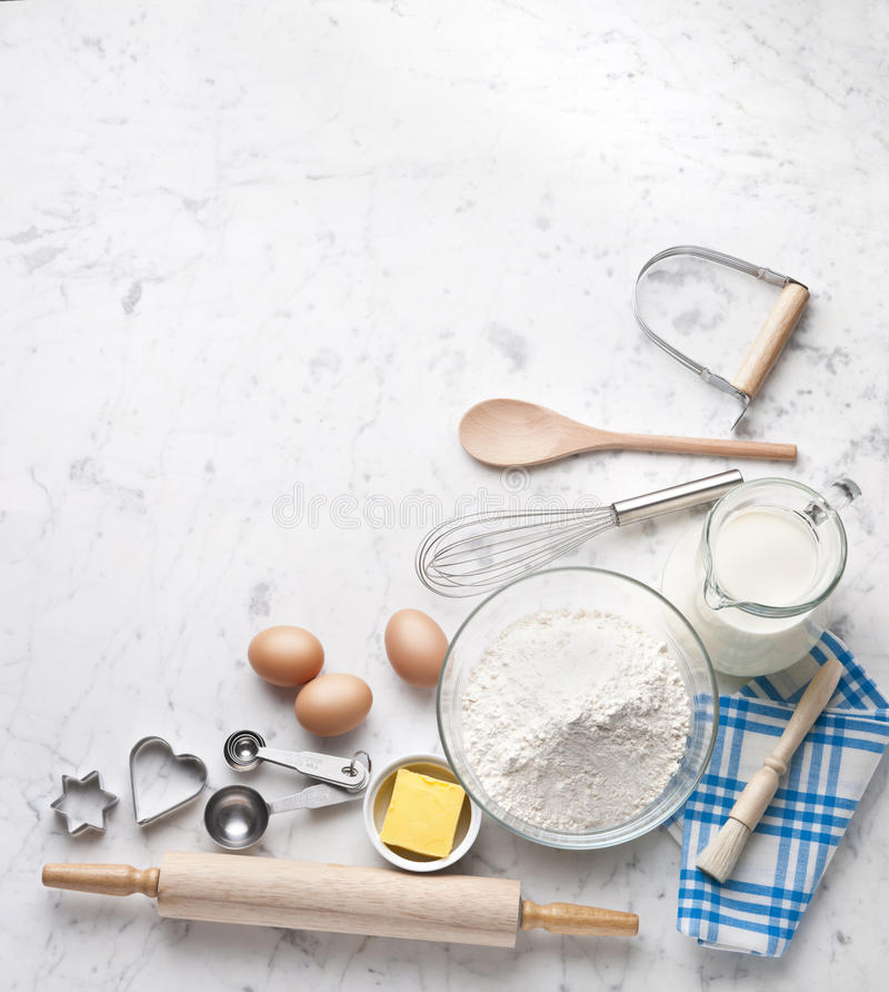 White Baking Cooking Background Stock Photo Image 61936409