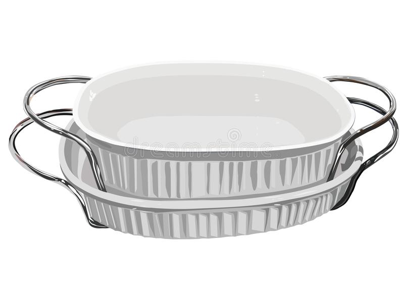 Download White Baking Dishes With Handles Stock Vector - Illustration: 20913034