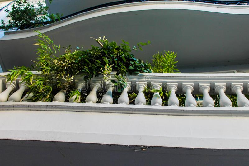 White Balaustrade Detail Palace Residential Style Detail stock image