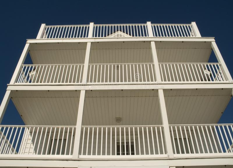 White Balconies Free Stock Images
