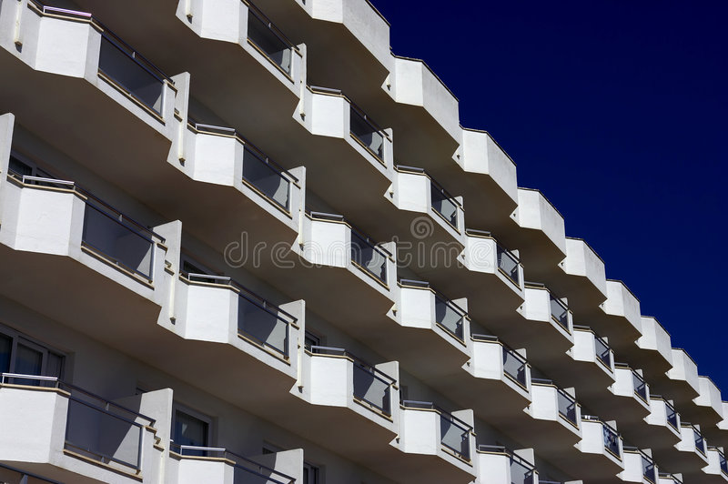 Download White balconies stock image. Image of concrete, bland, lines - 272891